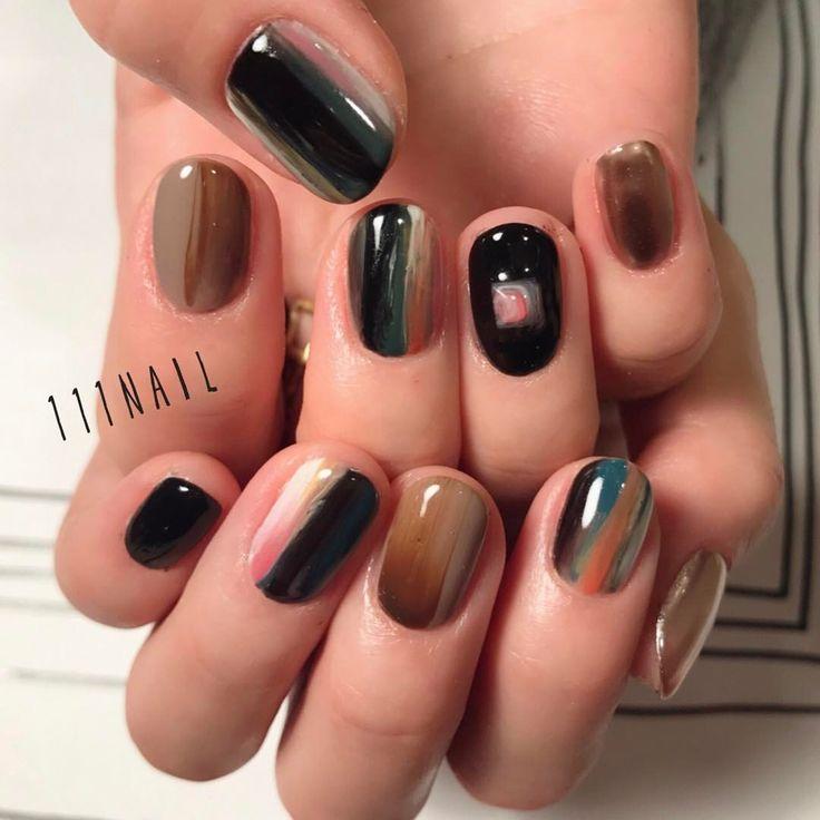 ▪️◼️◾️⬜️⬛️ #nail#art#nailart#ネイル#ネイルアート #nuance#colorful#ennui#ショートネイル#nailsalon#ネイルサロン#表参道#nuance111#colorful111
