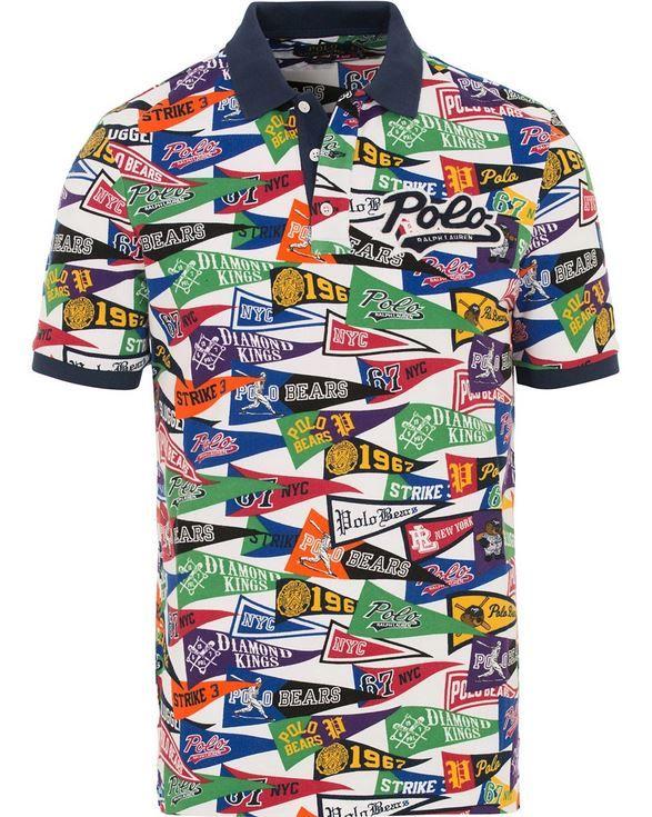 Polo Ralph Lauren Men Vtg Retro Bears Baseball Team Jersey Shirts Short-Sleeves
