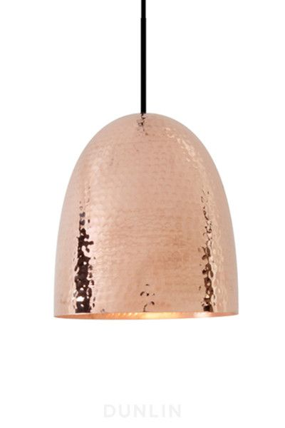 Hang In threes...Stanley Copper Pendant (smooth or hammered) Idea for above bar …shared by Vivikene