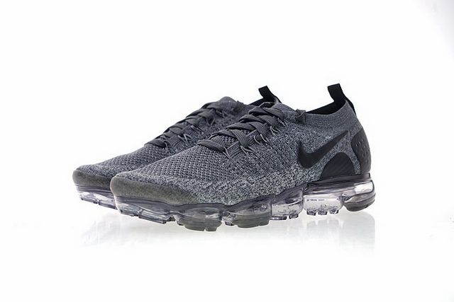 3bb245b5c3ad0 Factory Authentic Nike Air Vapormax Flyknit 2 Mens Womens Running Shoes  Deep Grey Black 942843-002 Hot Sale