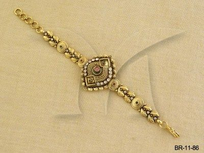 BR-11-86 || Diamond Ratna Antique Bracelet