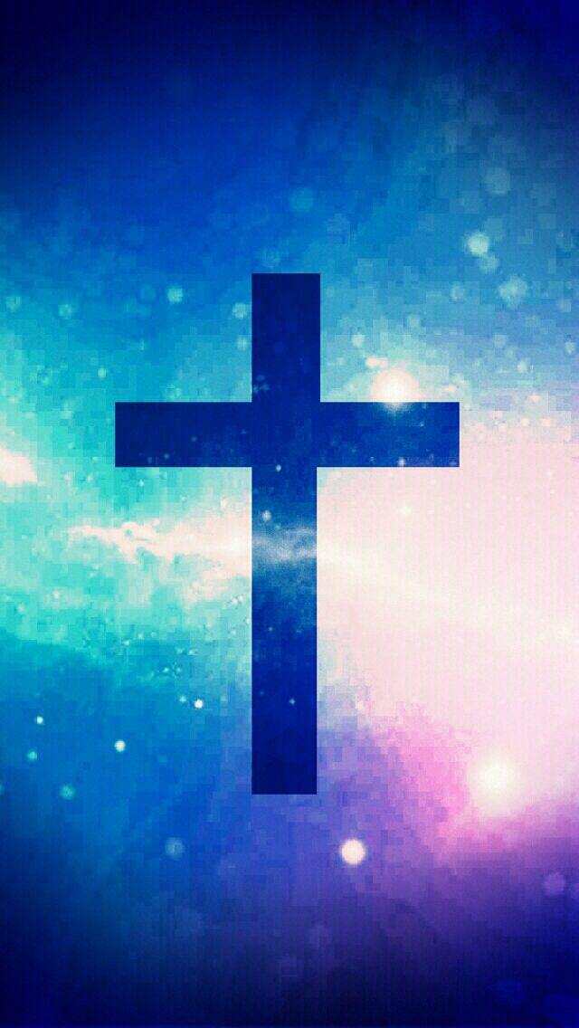 Galaxy Background with the cross super cute wallpaper i hope you love it