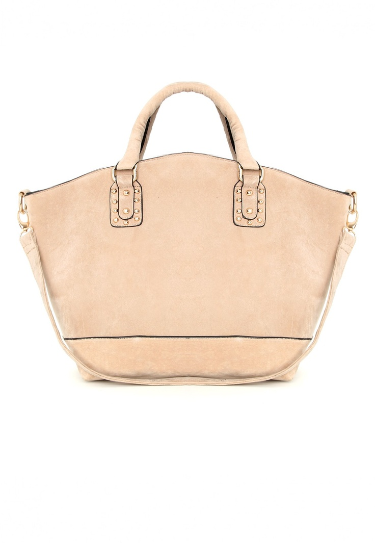 Devite Suede Shopper Bag In Camel- Nice big bag to fit my gloves and uni things in!! #MGWinterWardrobe
