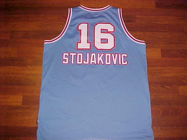 a1d94f043 ... Reebok NBA 1985-86 Sacramento Kings Peja Stojakovic 16 Blue Swingman  Jersey 2XL ...