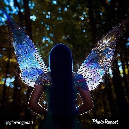 """Oh my! I can't wait to see the rest of the @glowingpearl photo set of her Silvermist cosplay! By @glowingpearl """"Follow me to magic ✨ @fancyfairyangela #silvermist #disneyfairies #wings #disneycosplay #tinkerbell #fairy yeah yeah sure this is my last pho 
