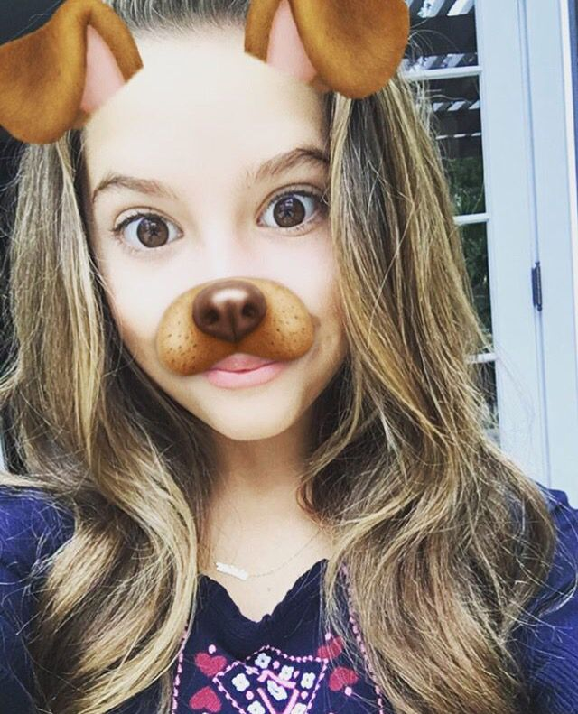 Mackenzie with a puppy filter