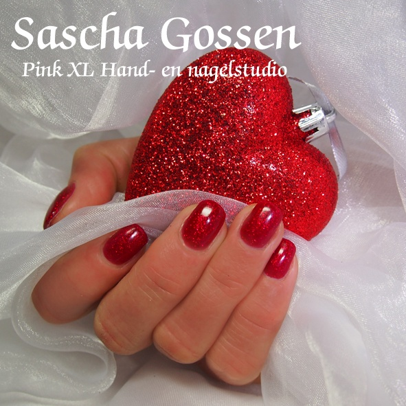 Valentine nails. Shellac Ruby Ritz   My work