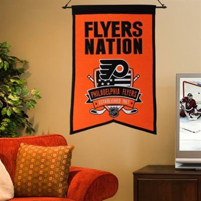 philadelphia flyers 15 x 20 nations banners orange
