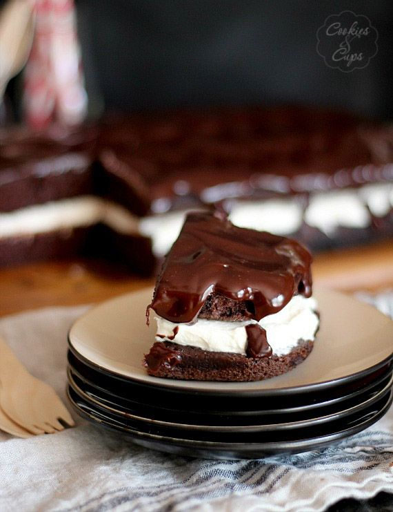 Whoopie Pie Cake | Cookies and Cups made this tonight- easy, so good and impressive looking when you use round pans!