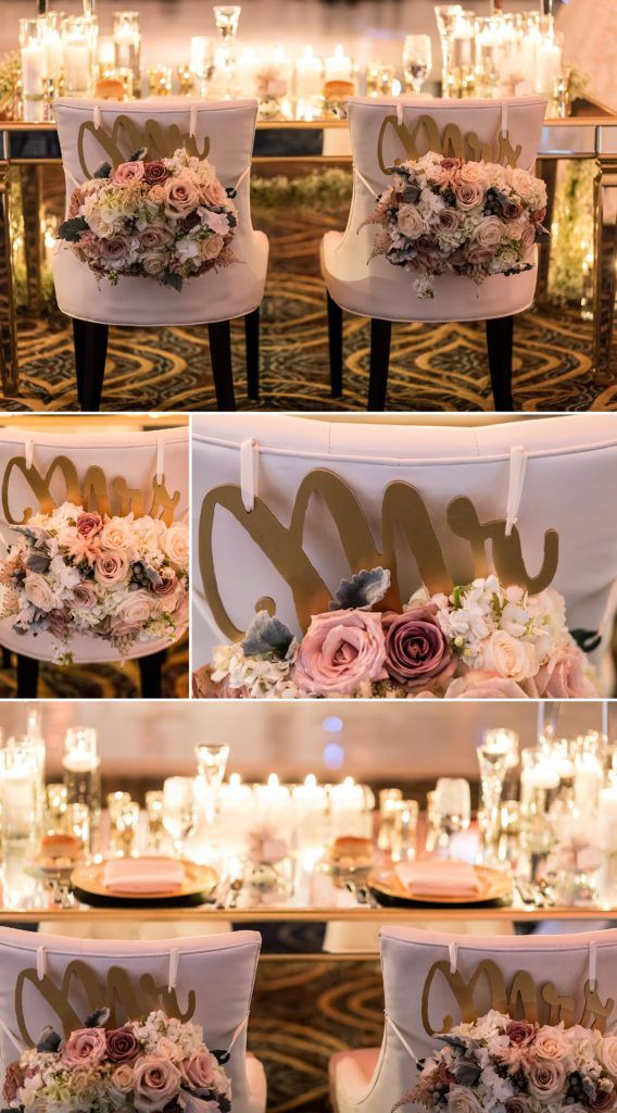 This New Years Crystal Tea Room Wedding Featured A Candle Covered Mirrored Sweetheart Table Wedding Venue Locations Philadelphia Wedding Venues Wedding Venues