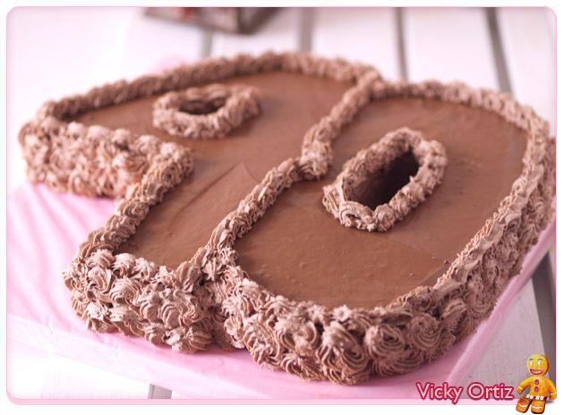 tarta de nmeros cumpleaos sucre art