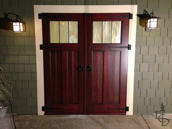 1000 images about garage door redo on pinterest sliding for Sliding carriage doors
