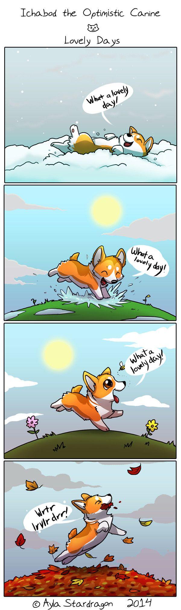 Ichabod the Optimistic Canine Comic <3