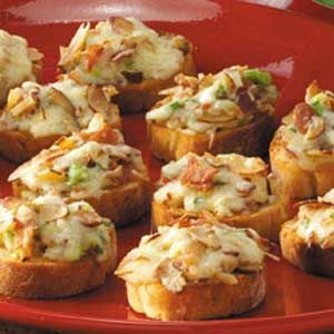 Almond-Bacon Cheese Crostini Recipe from Taste of Home