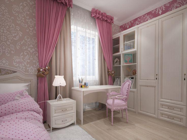 Комната для девочки. Интерьер создан студией Татьяны Зайцевой