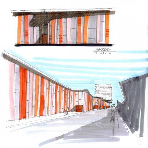 STEINMETZDEMEYER - Projects GKBRG 1001 UN NOUVEAU CENTRE URBAIN POUR LE KIRCHBERG sketch