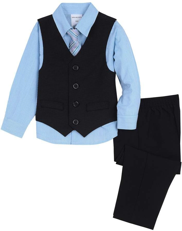 Van Heusen Baby Boys Four Piece Suspender Set