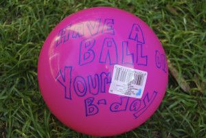 Happy Mail - why not mail a ball to somebody your birthday. What a FUN surprise! This post has all of the USPS guidelines on inexpensively mailing unpackaged items.