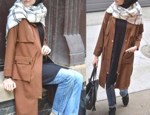 camel-trench-coat-hijab-outfit- Winter hijab fashion outfits http://www.justtrendygirls.com/winter-hijab-fashion-outfits/