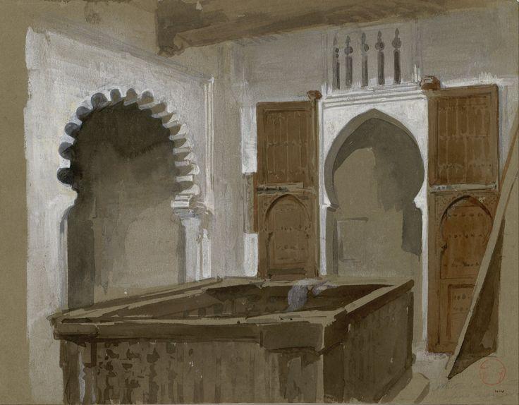 Nuestra casa en Teuán, 1860. Acuarela y Gouache, 24,2x31,9cm. Museo Nacional de Arte de Cataluña.