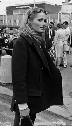 Ursula Andress at Heathrow Airport, 1966
