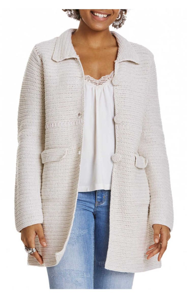 Kofta Crochet Grandma Coat CHALK - Odd Molly - Designers - Raglady