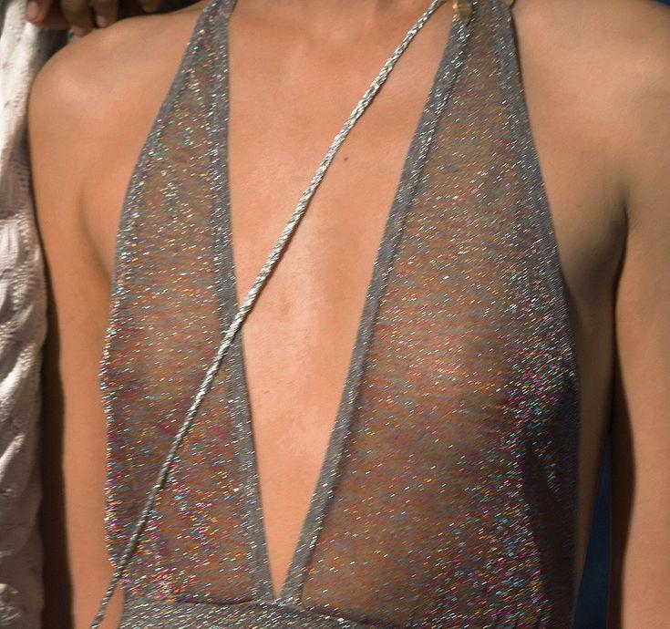 silver sheer #mesh #halter #dresses