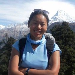 "Meet Lakpa Lhamu Sherpa.  ""I started trekking since 2010 and this is one of the most interesting things I do. So far, I have led treks in the Annapurna Region, Langtang Region, Ganesh Himal Region and Everest Regions in Nepal. I have also been part of a team that led a group of travellers to Upper Mustang. This country is beautiful, and I would love to have an opportunity to show you the amazing places I have been."""
