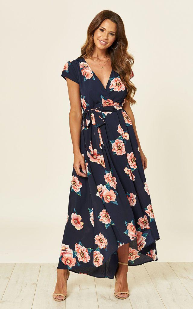3f71d1fb18 Navy Floral Print Dress By AX Paris in 2019   dresses   Dresses ...