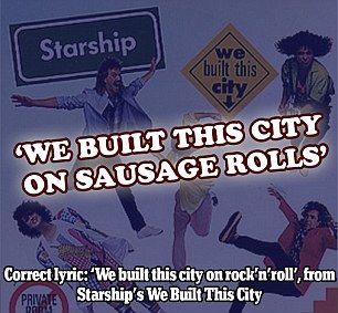 The 40 most misheard song lyrics | Daily Mail Online