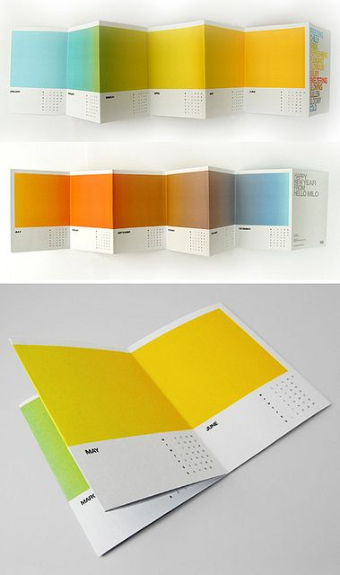 "Love these Pantone Wall Calendars!! [found by Design Vagabond: ""This calendar by Jonathan Davies captures the essence of each month through a gradient of color. A beautiful item to display even after the year is over.""]"
