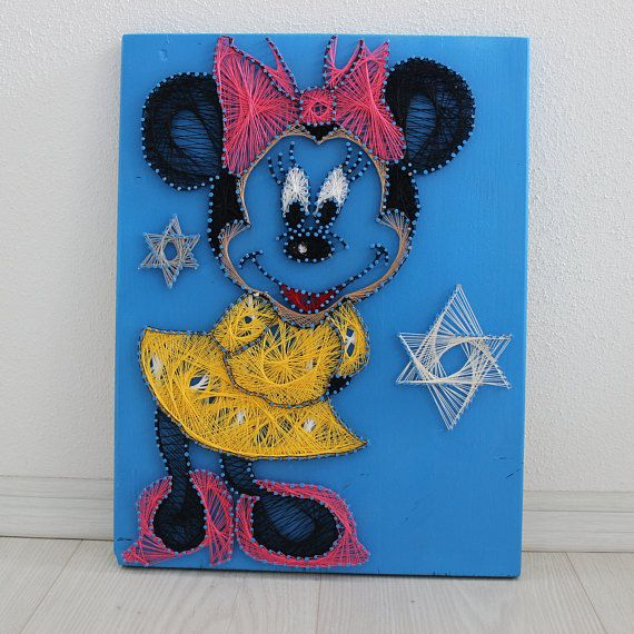 String Art/Minnie Mouse/Disney/ childhood/Wood art/ wall