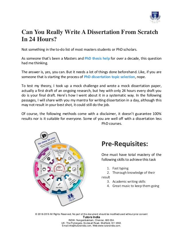 How To Write A Dissertation In Day Writing Service Academic Course