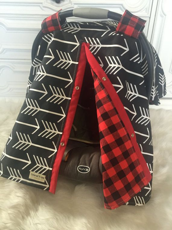 Car seat cover / Arrow and buffalo plaid by CoveredNLove1 on Etsy