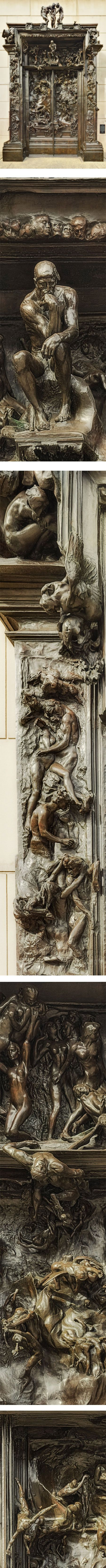 The Gates of Hell, Auguste Rodin, photo by J.W. Kern