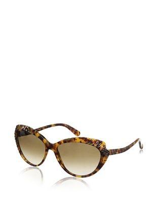 Alexander McQueen Women's 4197/S Sunglasses, Havana