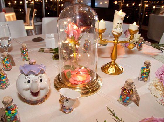 Disney-inspirierte Tischdeko für die Hochzeit