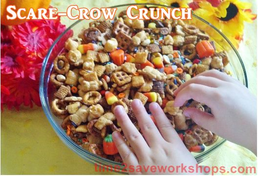 Scarecrow Crunch (Candy Corn + Random Snack mix!): Teacher Lounge Treats, Teachers Lounge, Fall Treat, Thanksgiving Teacher Treats, Kids Crafts, Teacher'S Lounge