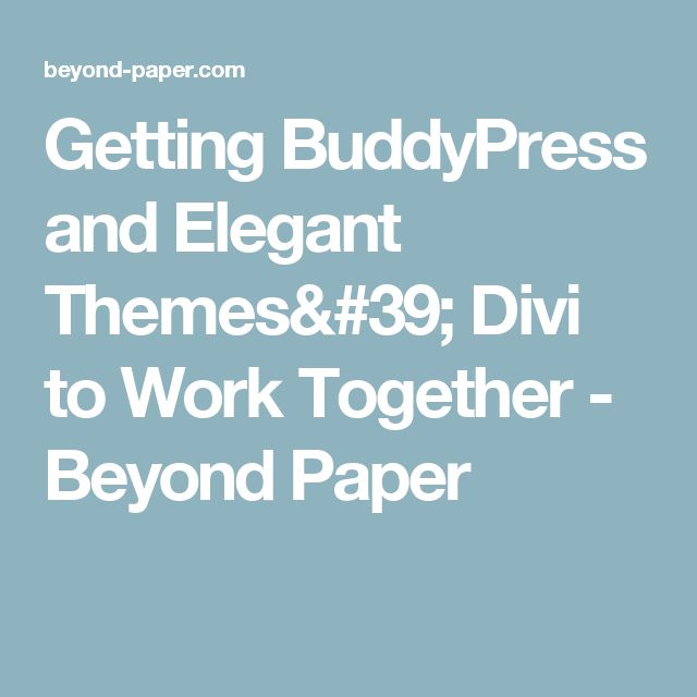Getting buddypress and elegant themes 39 divi to work - Divi font awesome ...
