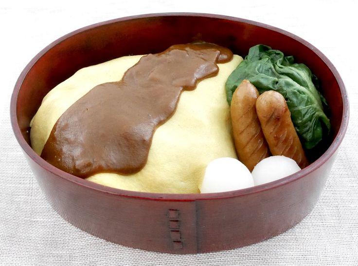 オムライス(玄米ケチャップライス330g、デミソース)塩茹ターツァイ、ソーセージ、小蕪のグラッセ(3つ)、野菜スープ