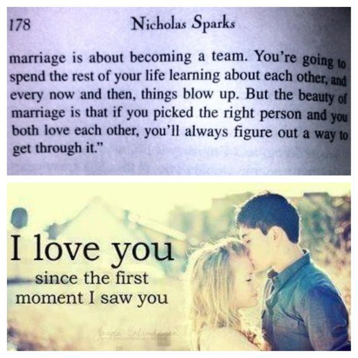 Nicholas Sparks. Love. Marriage