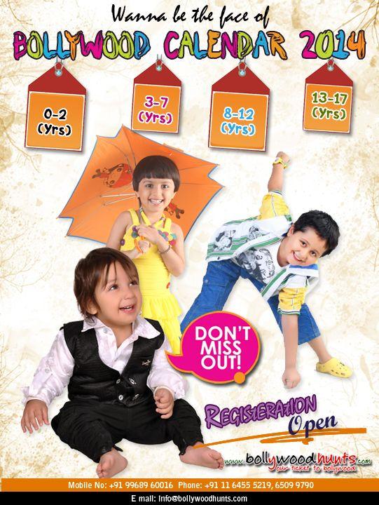 Bollywood Calendar 2014 (Kid Models)  For details visit: http://www.bollywoodhunts.com/BollywoodCalendar2014KidModels.aspx
