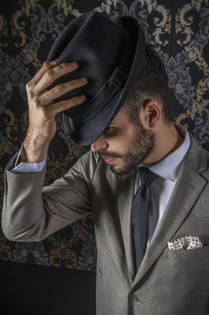 Elegant man in Tagliatore suit