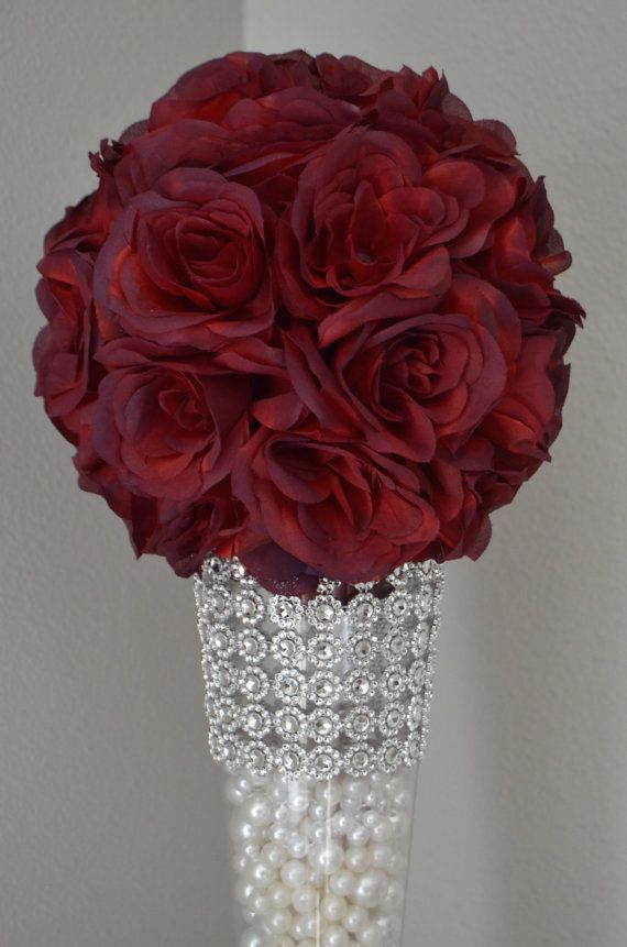 Sangria Flower Ball Wedding Centerpiece Wedding Pomander