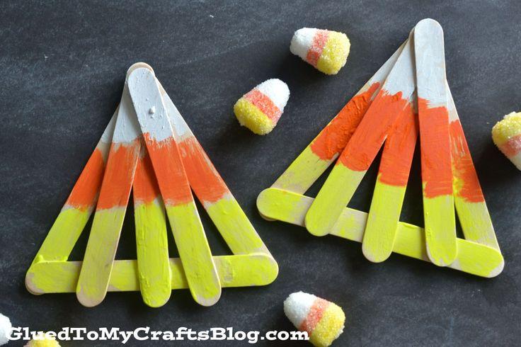 Popsicle Stick Candy Corn - Kid Craft