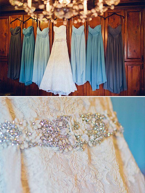 Blue bridesmaid dresses @weddingchicks