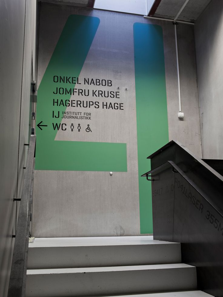 Litteraturhuset interior signage design by The Metric System.