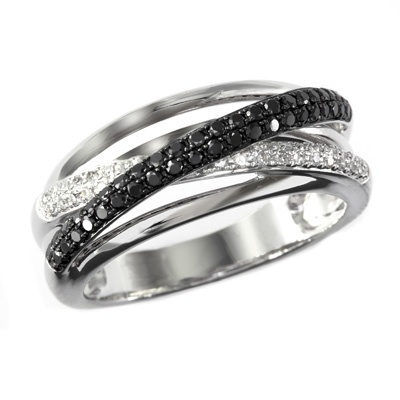 1 4 ct t w enhanced black and white diamond twist line for Where is zales jewelry
