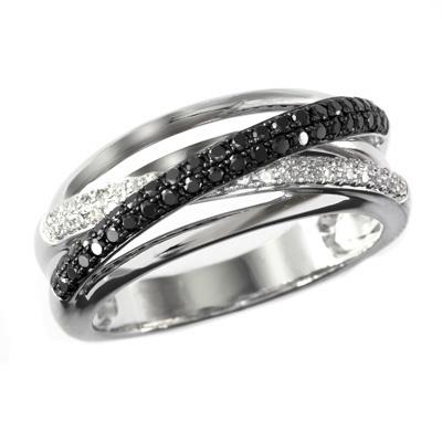 1 4 ct t w enhanced black and white diamond twist line