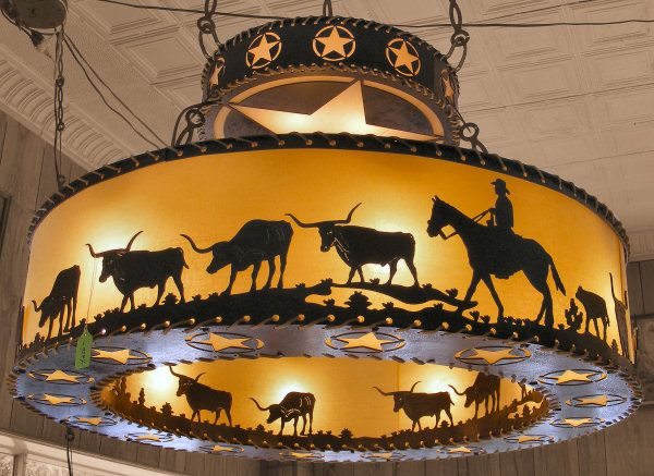 Cherokee Iron Works | Rustic & Western Lighting | Rustic & Western Chandeliers | Rustic & Western Home Decorations - Texas 2-Tier
